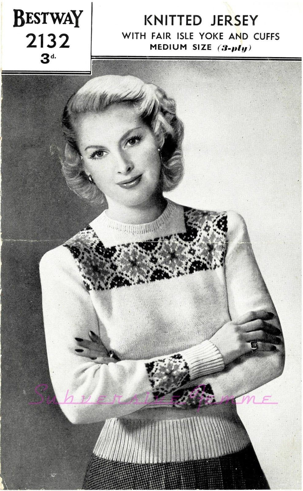 The Vintage Pattern Files: Free 1940s Knitting Pattern Bestway ...