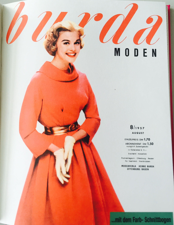 burda MODEN 8/1957   modele de rochii   Pinterest   Zeitschriften ...