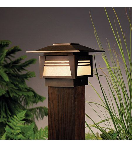 Kichler 15071oz Zen Garden 12v 16 Watt Olde Bronze Landscape 12v Deck Outdoor Post Lights Garden Path Lighting Garden Post Lights