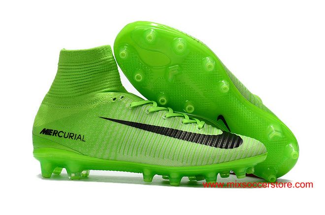 best service e9afd d2683 Nike Mercurial Superfly Radiation Flare 5 AG Pro Green Black  Artificial-Grass Soccer Cleats