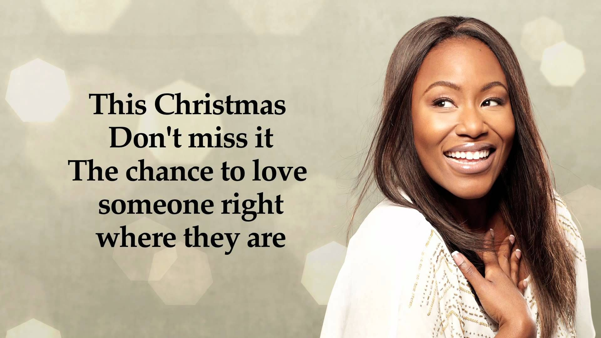 nice Christmas song Mandisa - Somebody\'s Angel (Official Lyric Video ...