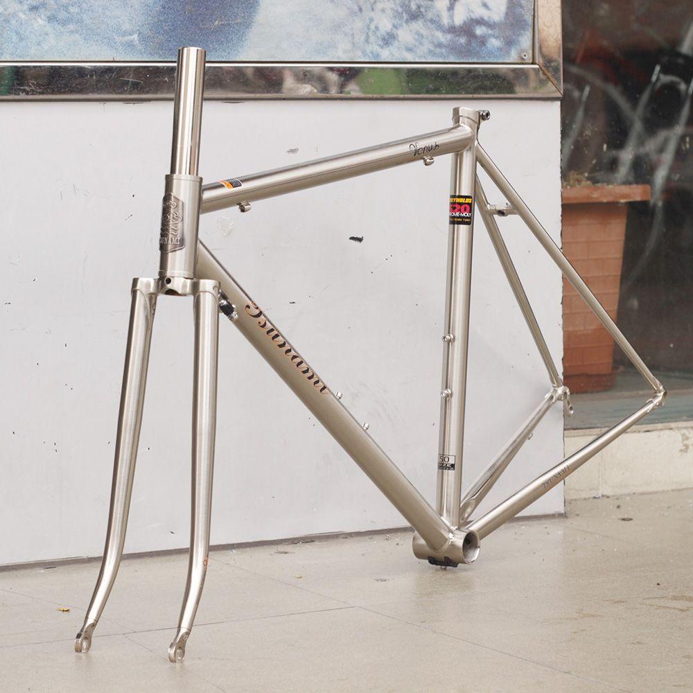 TSUNAMI 520 with 4130 CR-MO Steel Road Bike Frame Fork 700C Classic ...