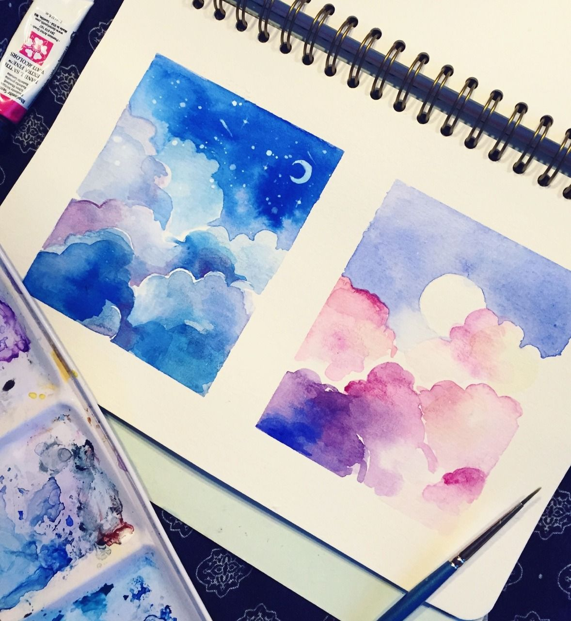 Cloud Practice In 2020 Watercolor Paintings Art Drawings