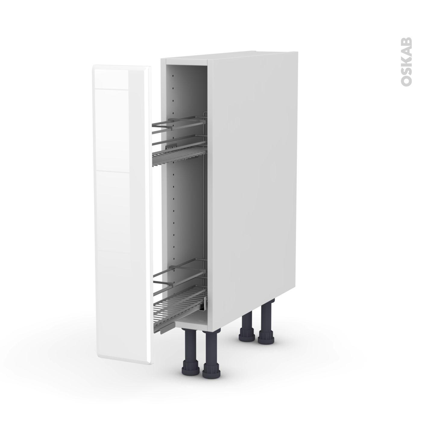 Meuble de cuisine Range épice epoxy IRIS Blanc 14 porte L145 x H14 x