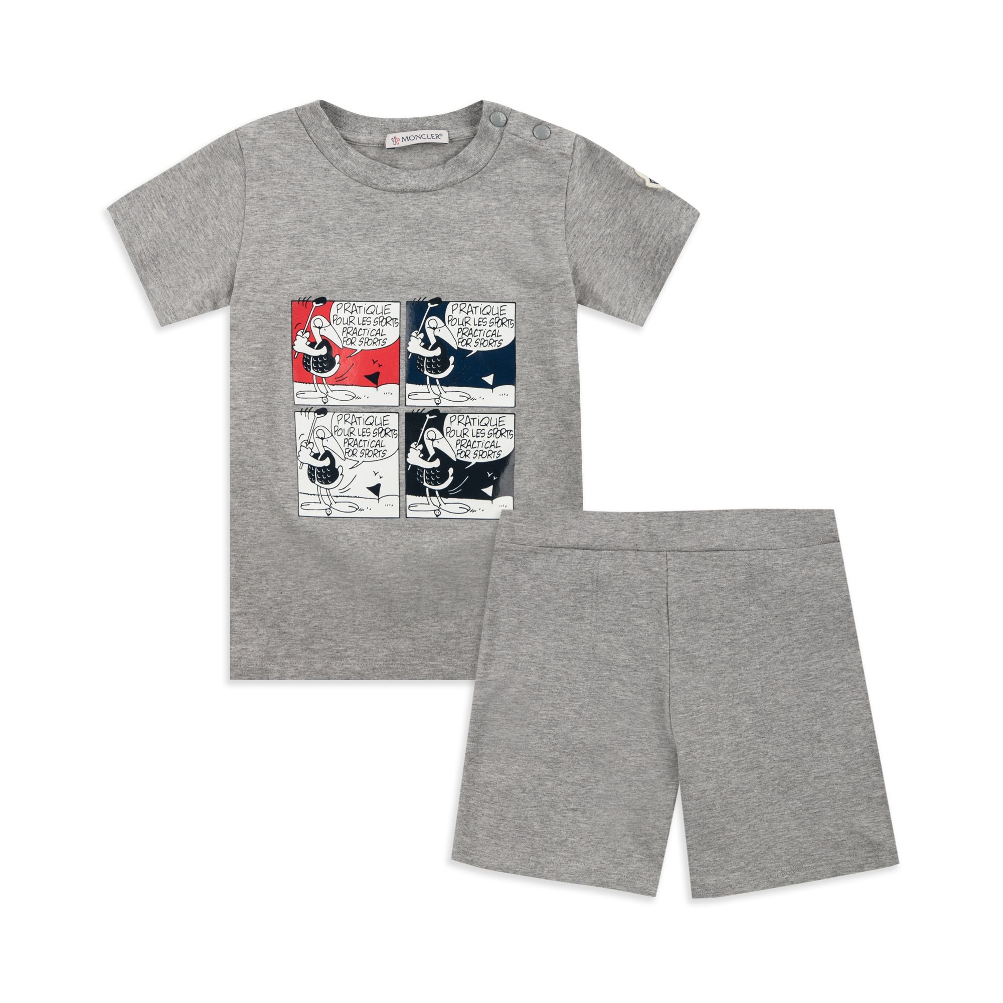 130b21595 Baby Boys Glossy Cartoon Outfit Set - Grey
