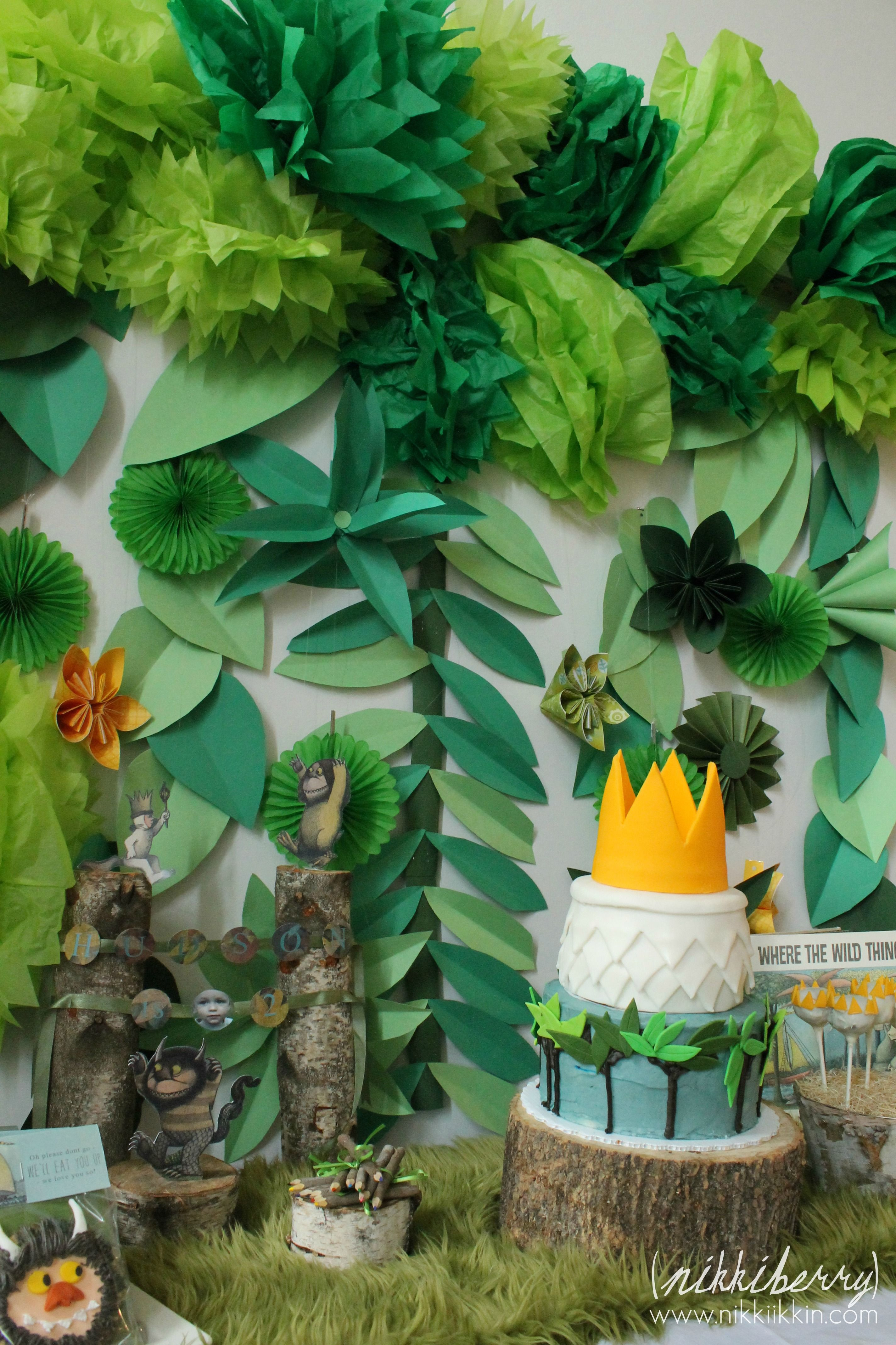 Jungle Theme Decorations Instant Download Where The Wild Things Are Cupcake Toppers