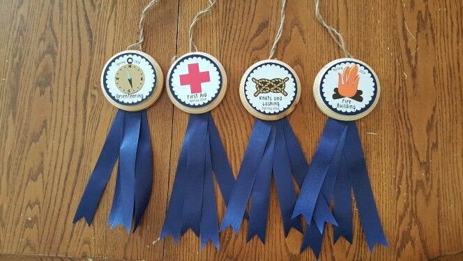 Awards I made for scout camp.