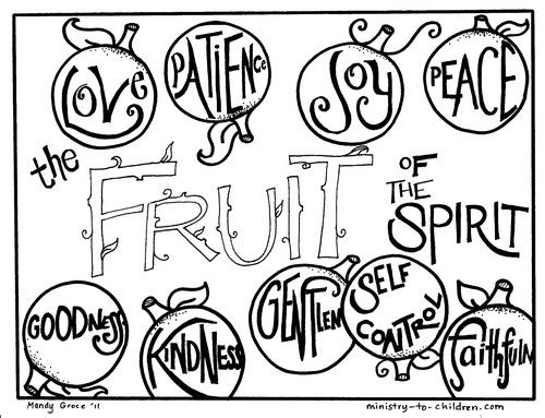 Fruit Of The Spirit Links Sunday School Coloring Pages Bible