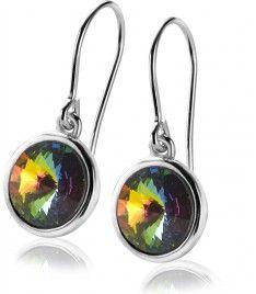 Zinzi zilveren oorhangers multicolour ZIO1055M