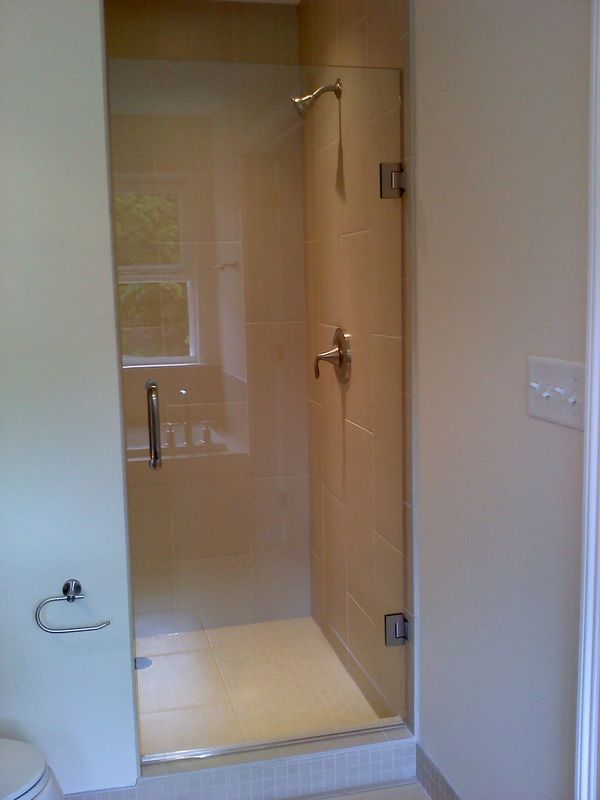 types of shower door finishes frameless single shower