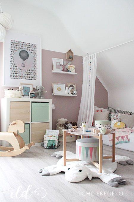 Kinderzimmer In Pastellfarben | Kinderzimmer Idee | Minidrops