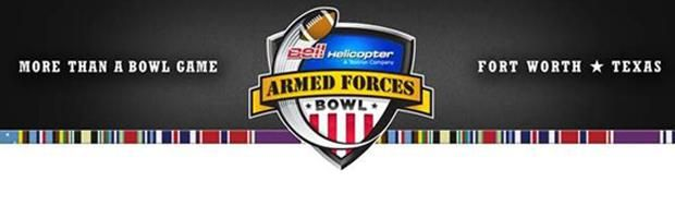 The 10th edition of the Bell Helicopter Armed Forces Bowl will be played Saturday, Dec. 29, 2012 at TCU's newly renovated Amon G. Carter Stadium with a 10:45 a.m. (CST) kickoff. ESPN and ESPN Radio will air the game as the post-season college football bowl game returns home to #whyfortworth
