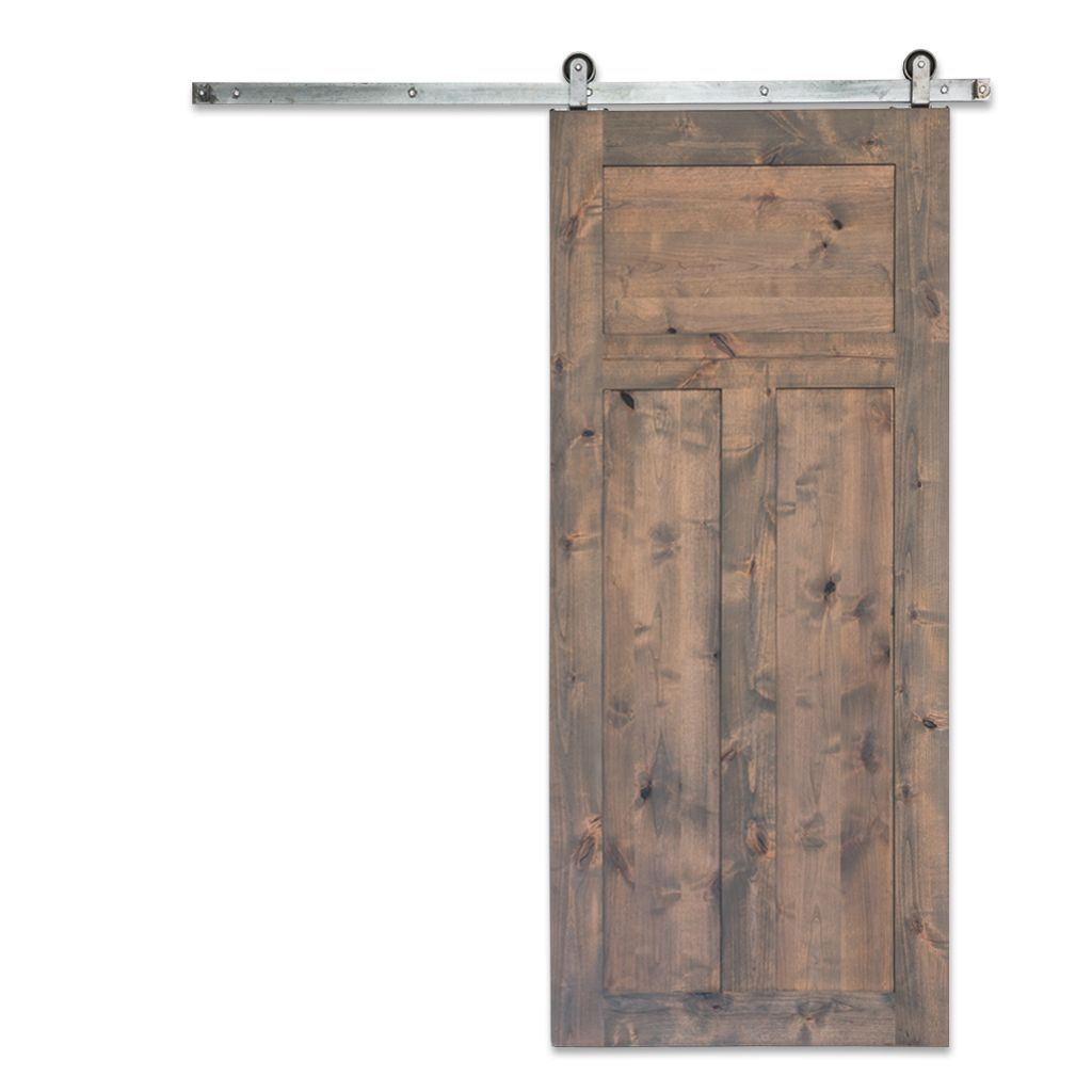 Add a modern craftsman touch to any traditional rustic barn door
