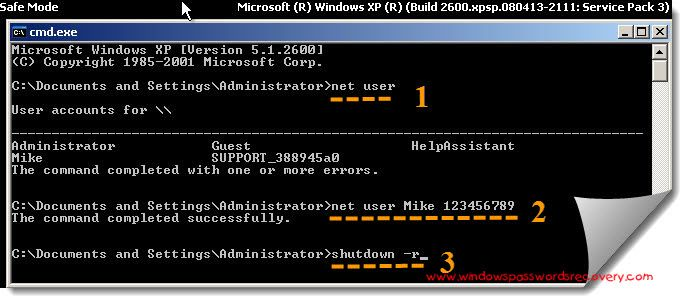 How To Bypass Xp From Safe Mode Computer Password Safe Passwords