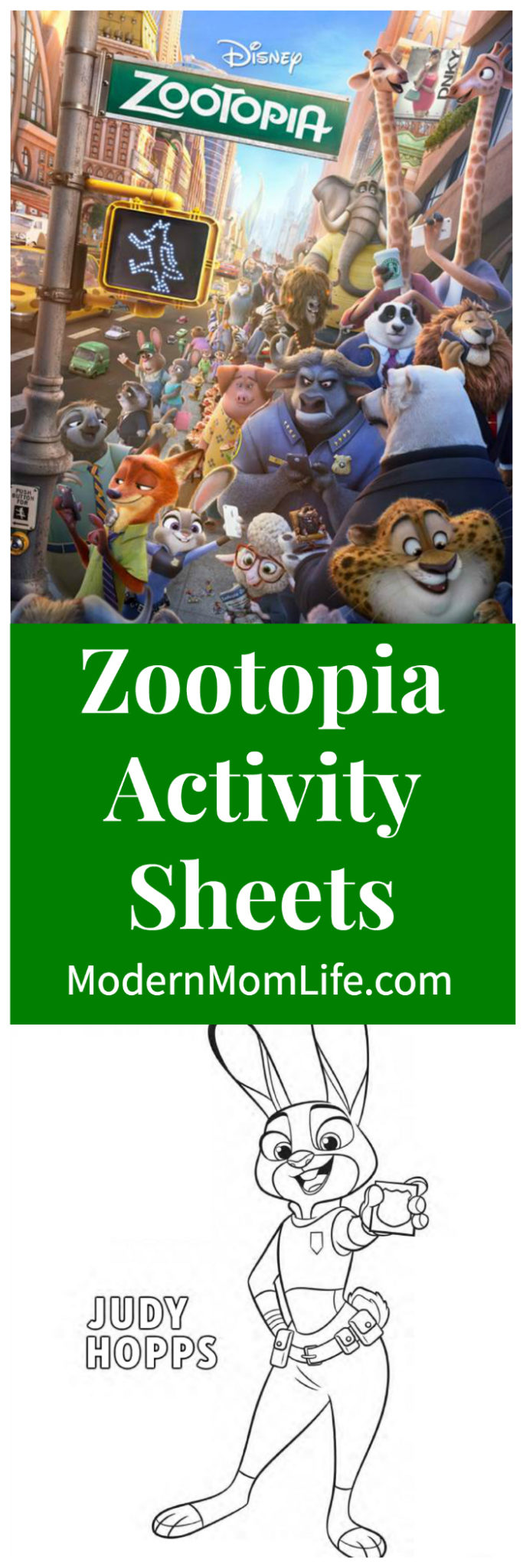 Download FREE Zootopia coloring sheets and activity sheets ...