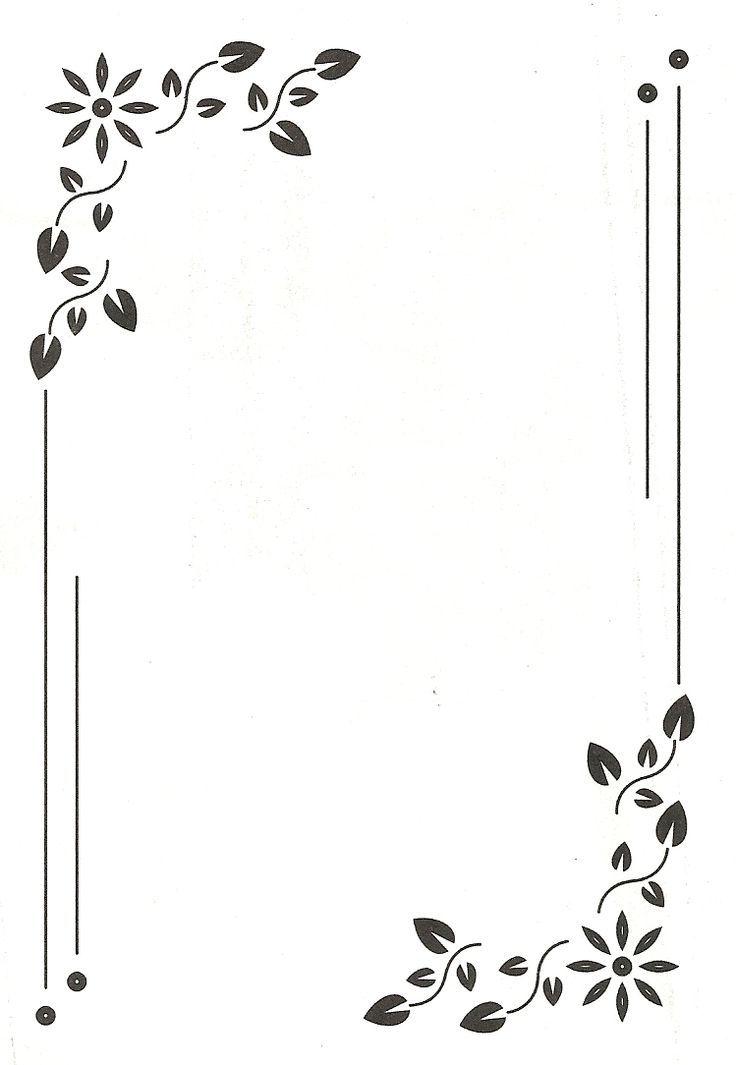 กรอบของทำรายงาน   Writing Paper   Page borders design ...