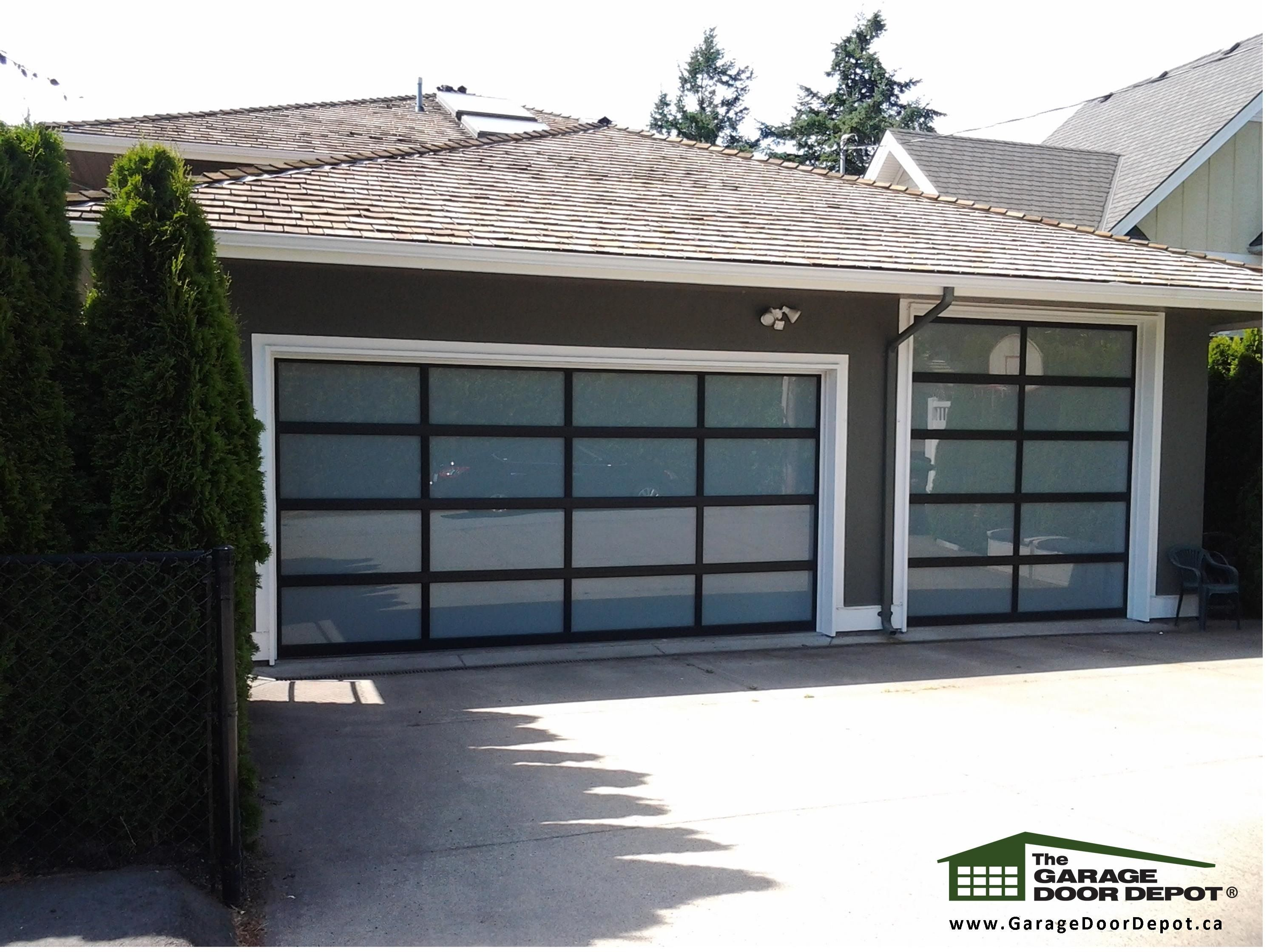 Garage Doors Home Renovations Curb Appeal Full View Steel Glass