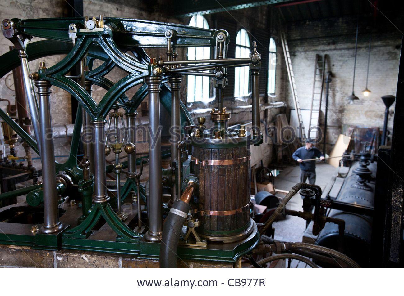 Headley beam engine, Old Pumping Station, Cambridge, UK Stock Photo