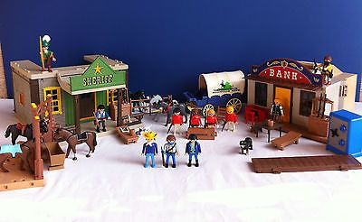 lot playmobil western far west bank sheriff virginian. Black Bedroom Furniture Sets. Home Design Ideas