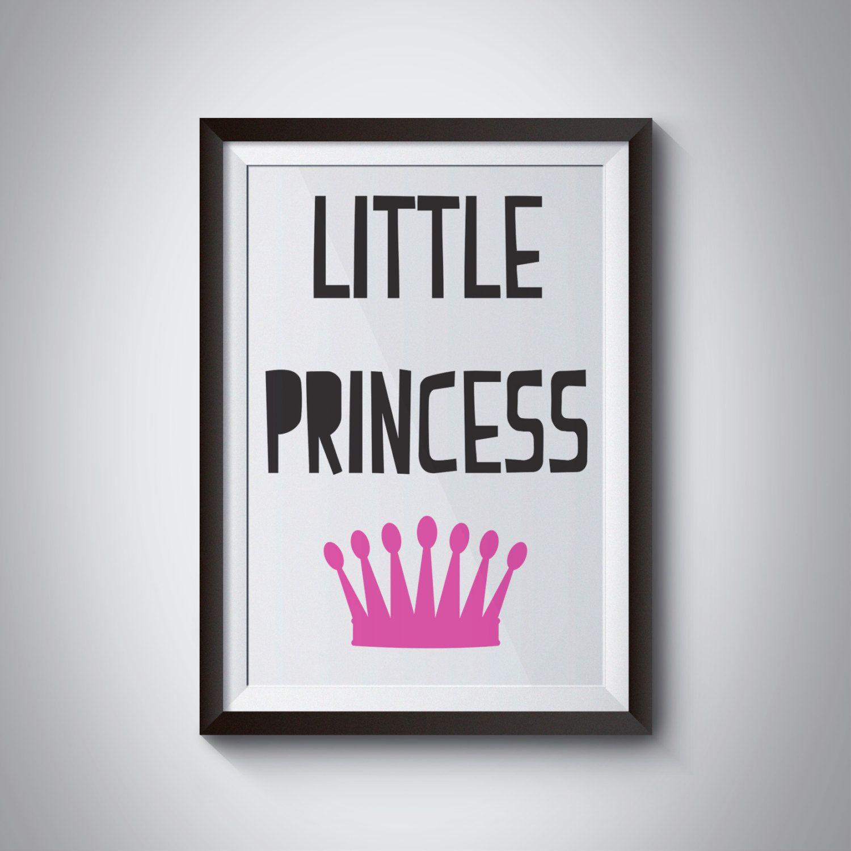 Little princess wall art wall art decor minimalist pink crown