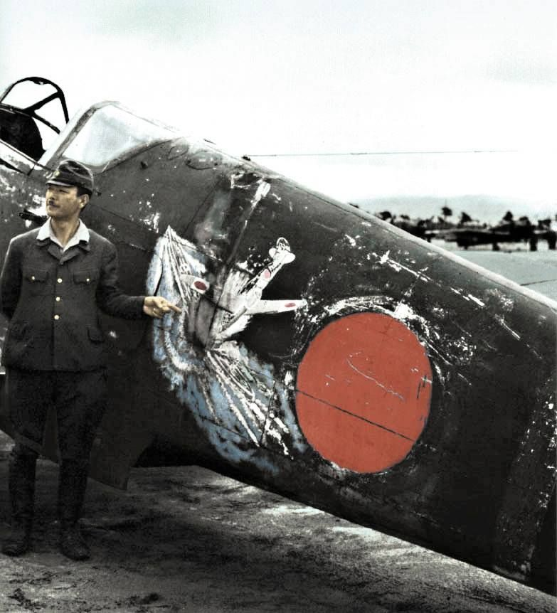 The bright painting on the fuselage expresses commitment to the Japanese Kamikaze pilot These pilots with aircraft careening headlong on the bulging explosives Allied ships. Should be the new divine wind, which will save Japan, but this goal was not humanly possible. Although certain achievements have reached the kamikaze, but you were too costly. Each success (if it ever came) meant the loss of the pilot and the aircraft and such a waste of Japan's could not afford too