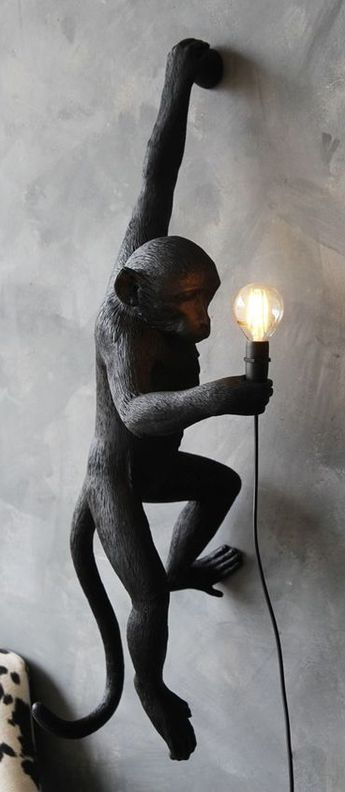 lampe poser monkey standing noir h54cm outdoor seletti pinterest decoration. Black Bedroom Furniture Sets. Home Design Ideas