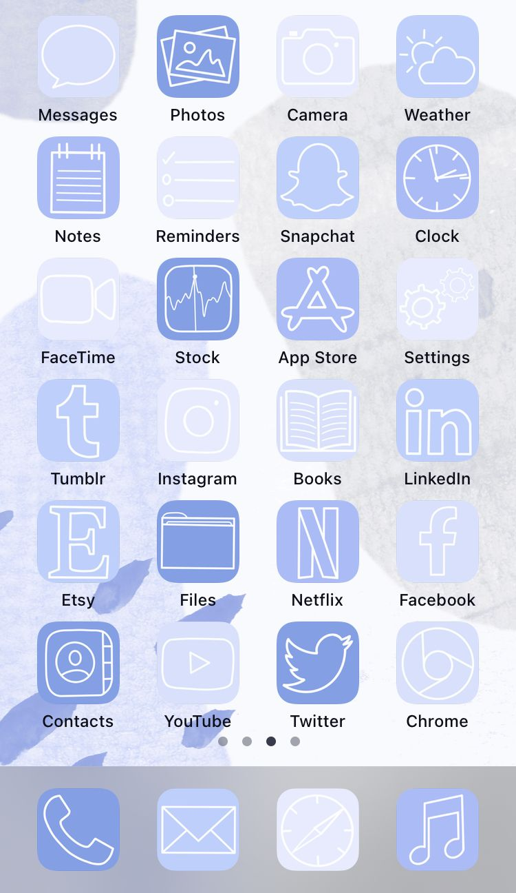 Aesthetic ios14 app icons - 50 icons