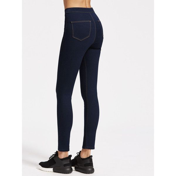 High Rise Skinny Jeans With Top Stitching (530 RUB) ❤ liked on Polyvore featuring jeans, high-waisted jeans, high waisted denim skinny jeans, high waisted skinny jeans, highwaist jeans and high waisted jeans