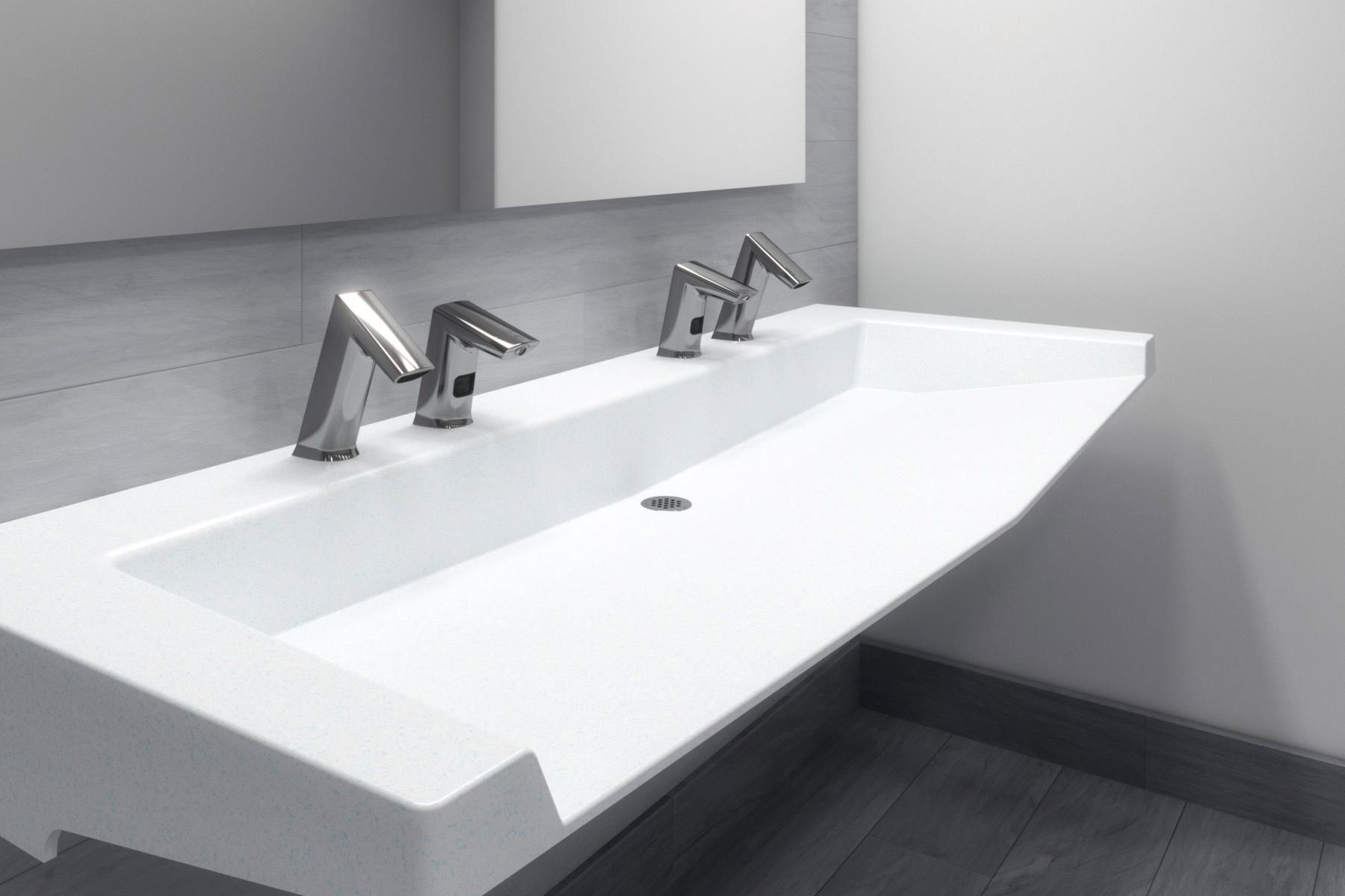 Create Stylish Water Saving Commercial Restrooms With Sloan