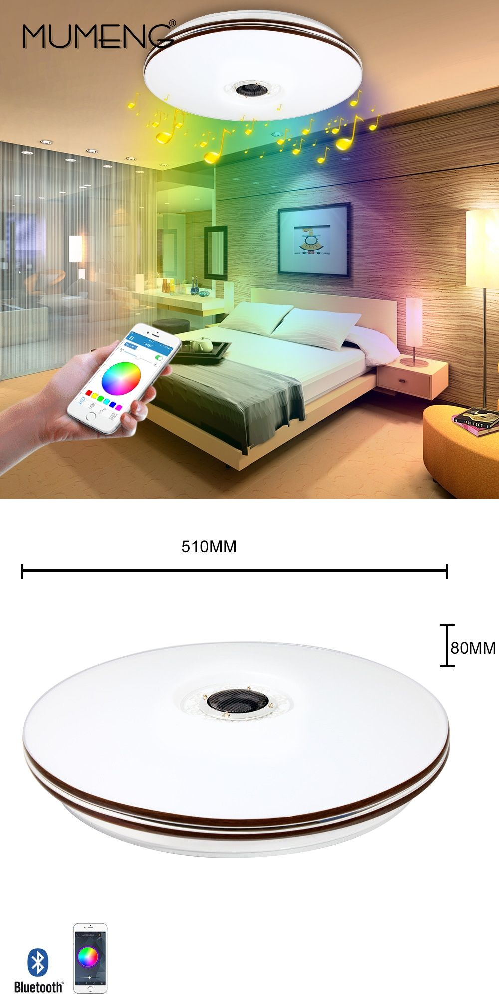 mumeng LED Ceiling Light Modern RGB Living Room Luminaria 32W ...