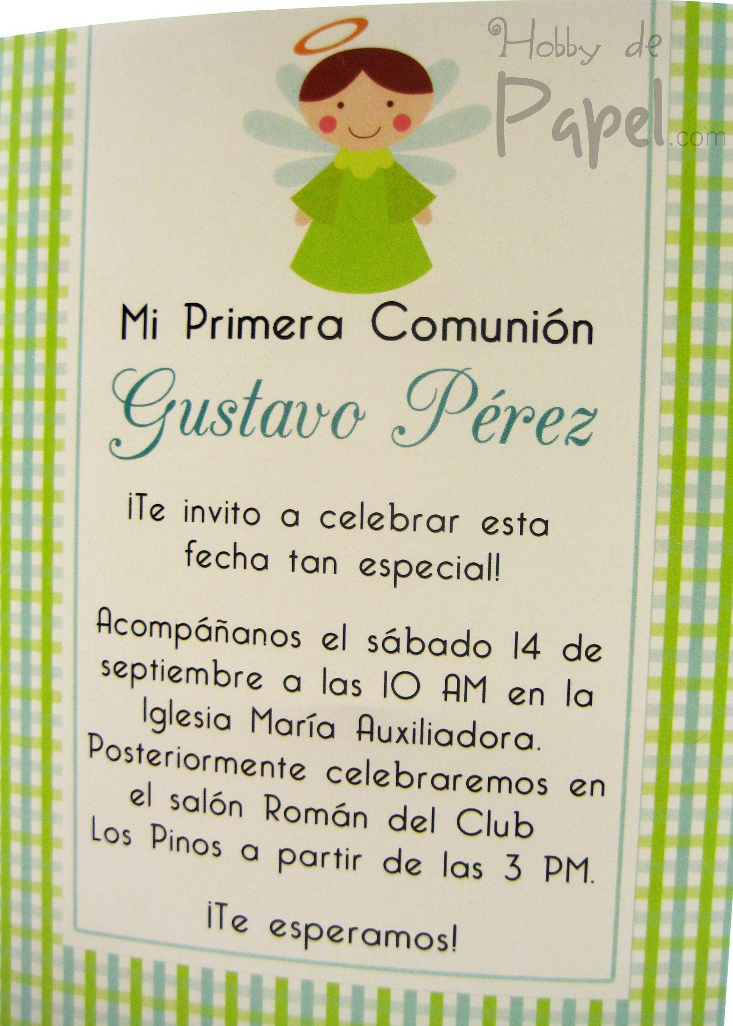 Hobby De Papel Tarjetas Invitacion Primera Comunion