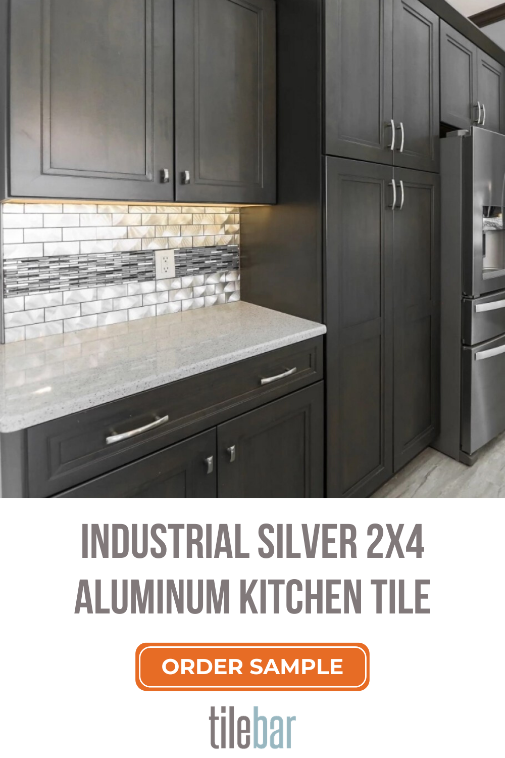 Industrial Silver 2x4 Aluminum Tile In 2020 Aluminium Kitchen Grey Kitchen Designs Kitchen Cupboard Colours