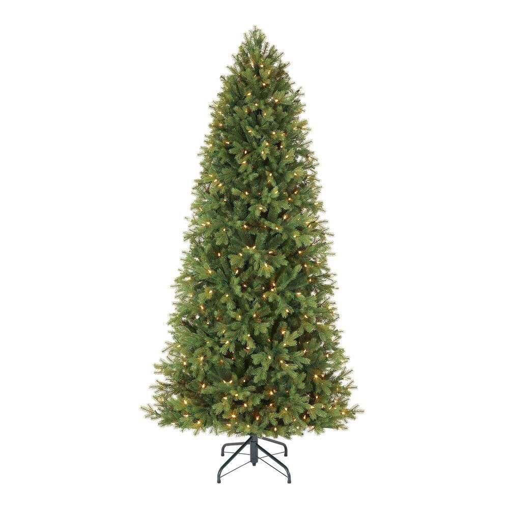 Home Decorators Collection 7 5 Ft Lachlan Balsam Fir Slim Led Pre Lit Artificial Christmas Tree With 460 Color Changing Lights With 7 Functions R64875slpyt5wm In 2020 Color Changing Lights Slim Artificial Christmas