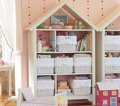 I Love The Petaluma Large Dollhouse Bookcase On Potterybarnkids Com