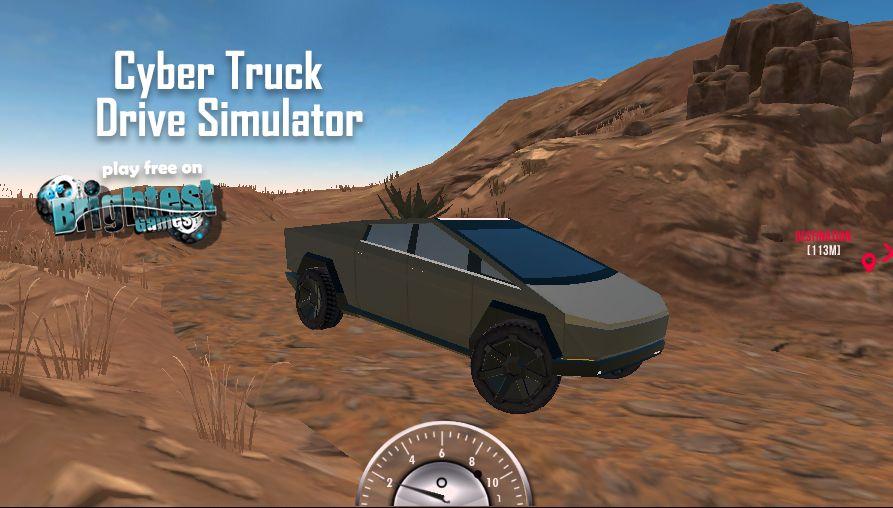 Play Cyber Truck Drive Simulator On Brightestgames Com Trucks Cyber Simulation