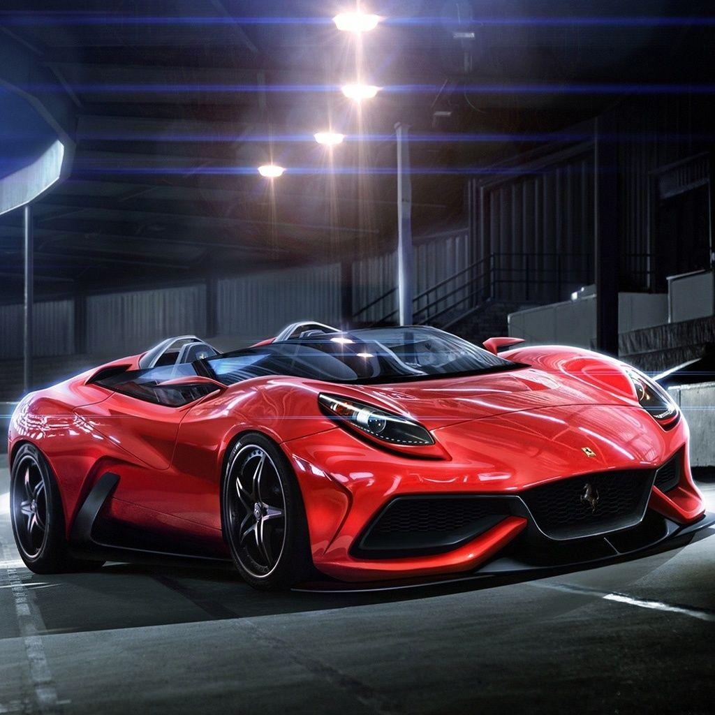 Red Luxury Cars: Luxury Red Ferrari Racing Car #iPad #wallpaper