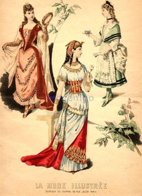 Fancy dress, 1890 France, La Mode Illustree