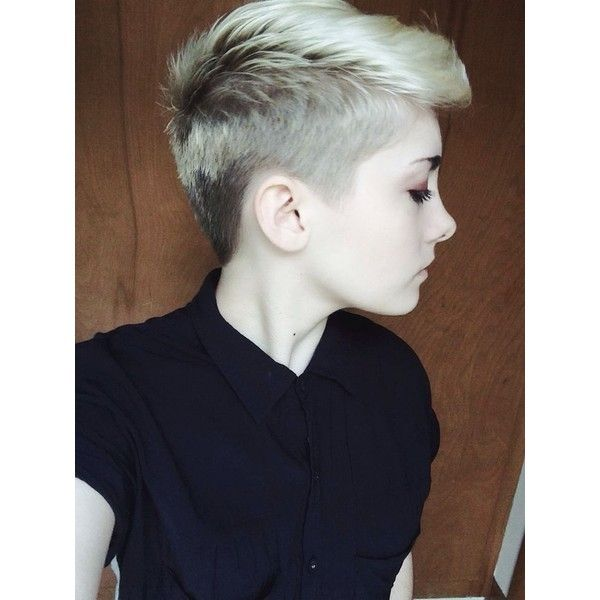 Androgynous Hair Liked On Polyvore Featuring Accessories Hair Accessories And Short Hair Accessories Girls Short Haircuts Short Hair Styles Girl Haircuts