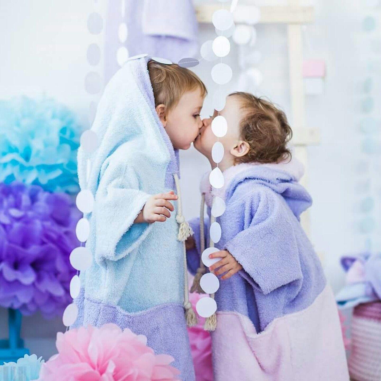 Girls bathrobe – purple hooded robe – pink girl robe - soft baby ...