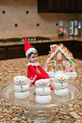 Elf On The Shelf Christmas Time Christmas Donuts Holiday Fun Holiday Ideas