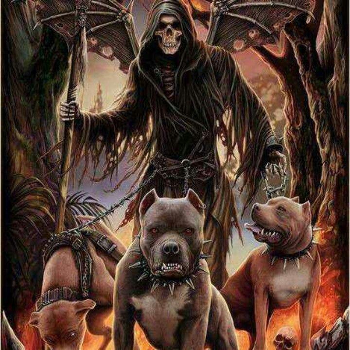 hell hounds dark art pinterest grim reaper grim reaper art and mythology. Black Bedroom Furniture Sets. Home Design Ideas