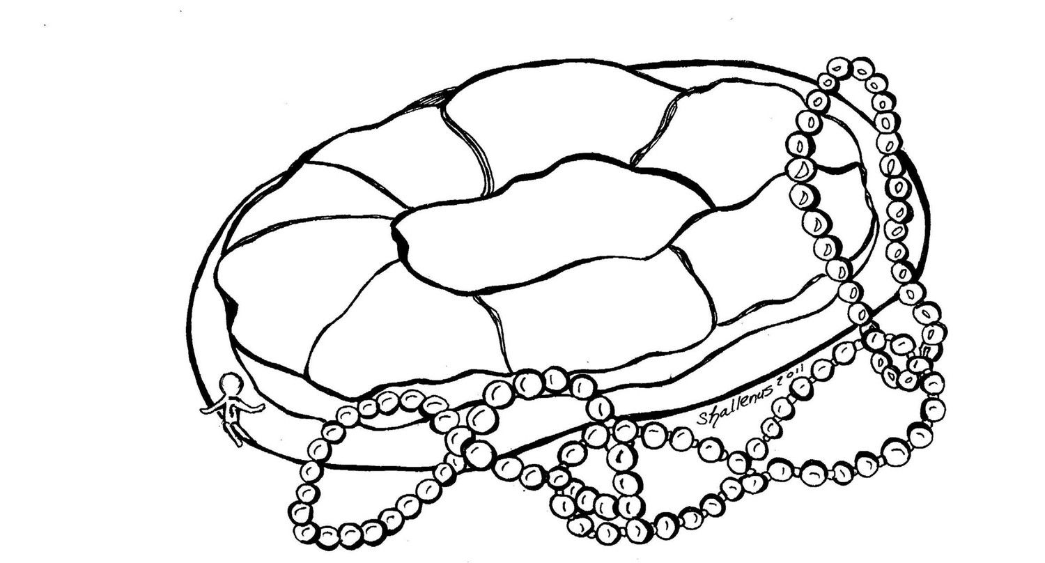 Mardi Gras King Cake Coloring Pages Pif New Orleans Mardi Gras