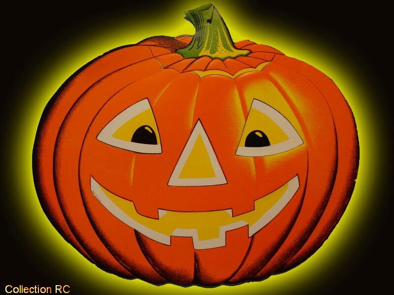 Vintage Halloween diecut circa 1960\u0027s Halloween Decorations - vintage halloween decorations