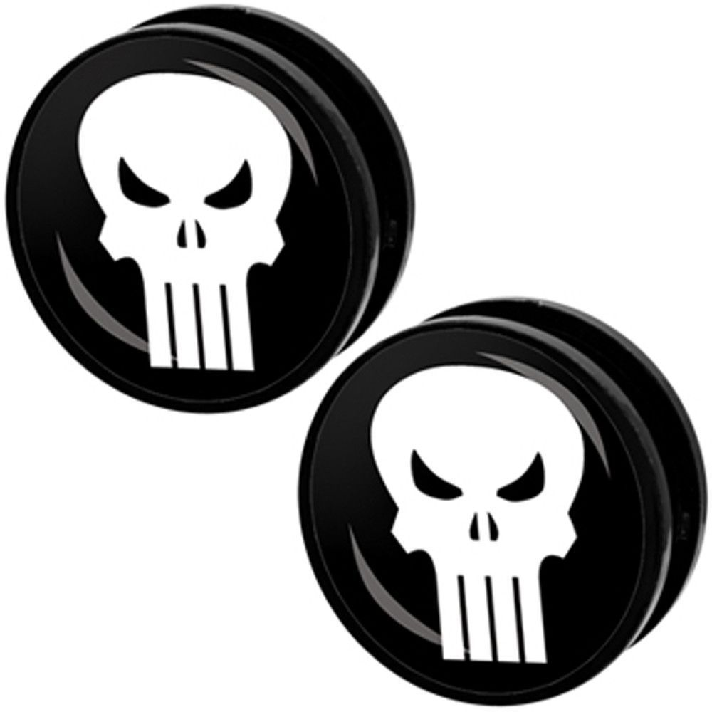 """1"""" The Punisher Screw Fit Plugs Set"""