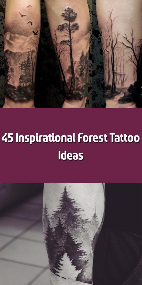 Photo of 45 Inspirational Forest Tattoo Ideas –         Have a mysterious and calming pic…