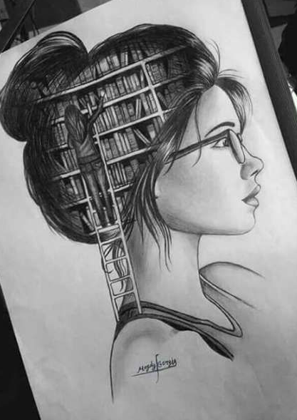Creative Unique Sketches : creative, unique, sketches, Nature, Scenery, Drawing, Meaningful, Drawings,, Hipster, Drawings, Sketches, Creative