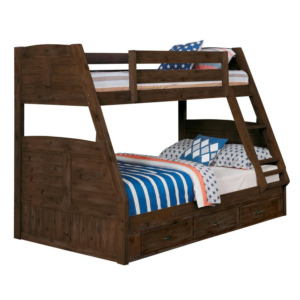 American Furniture Classics Twin Over Full Solid Wood Bunk Bed In