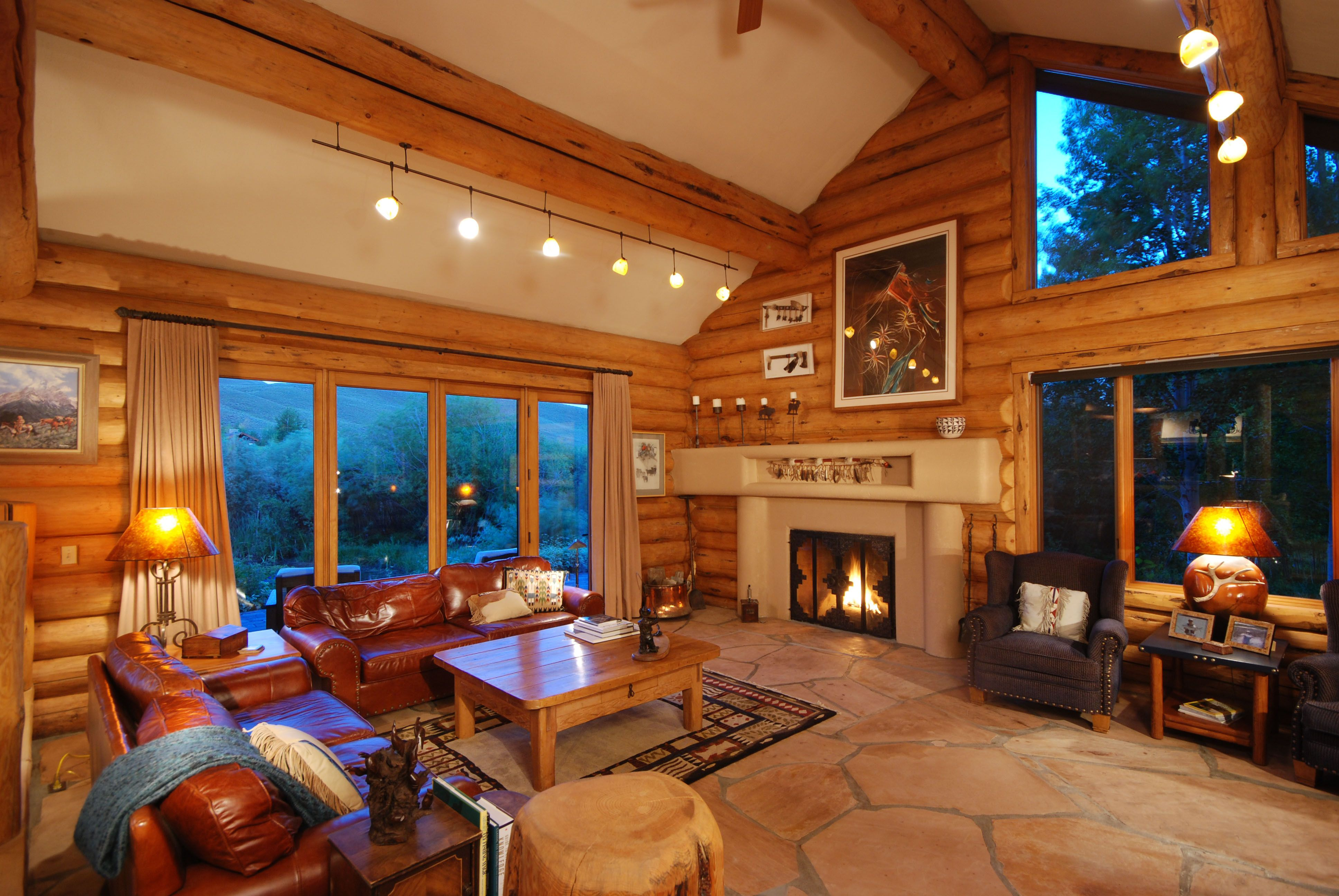 Image Detail For  Fireplace In Mountain Home