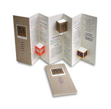 die cut brochure boxes beyond the basics unique brochure folding