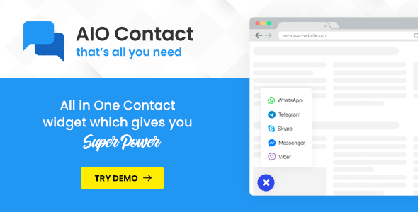 Aio Contact All In One Contact Widget Stylelib First Contact Plugins Widget